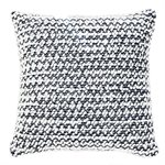 Ditalini navy knitted cushion