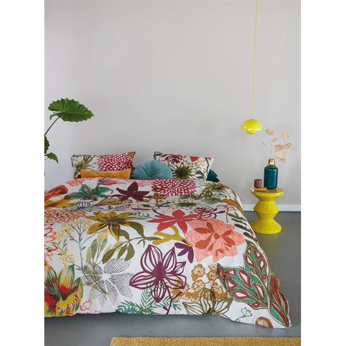 Flower power colorful duvet cover