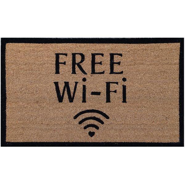 Carpette de coco Free wi-fi