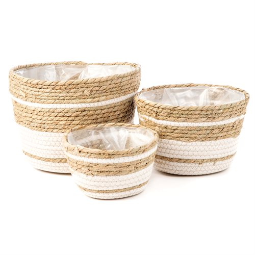 Hula jute baskets