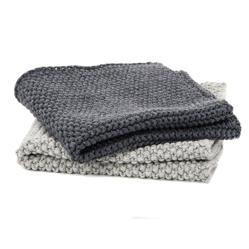 Janette grey knitted dish cloth