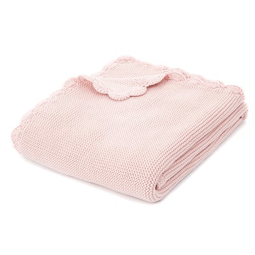 Jasmine pink knitted baby blanket