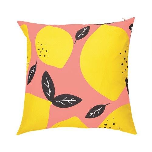 Lemon printed cushion