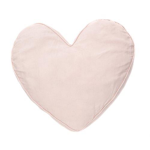 Coussin cœur rose Linen