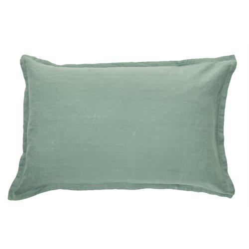 Cache oreiller en lin vert sauge Linen