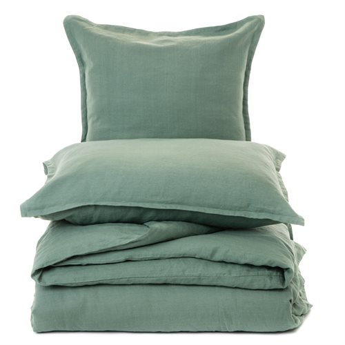 Linen sage green duvet cover