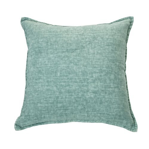 Linen Stone Wash sage european pillow