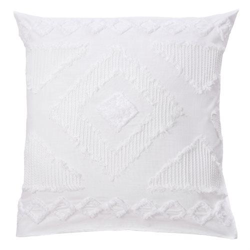 Cache oreiller européen blanc Raitha