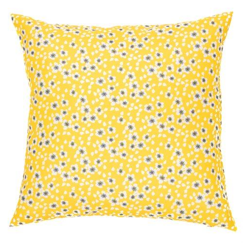 Coussin jaune imprimé Rudbeckia