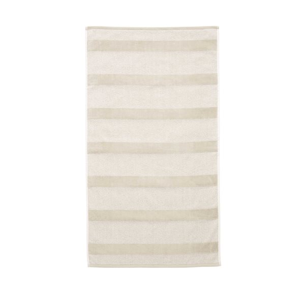 Spa striped sand guest towel