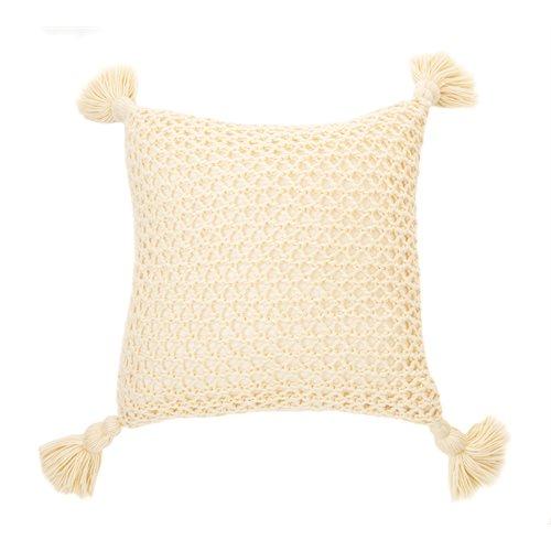 Coussin en tricot naturel Shiva