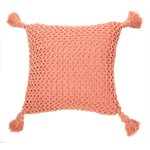 Shiva coral knitted cushion