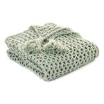 Shiva sage knitted throw