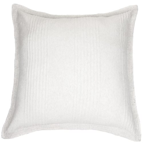 Cache oreiller européen en coton piqué crème Suite