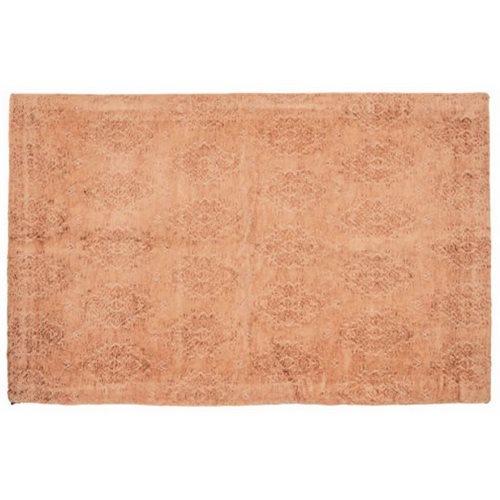 Carpette en velours jacquard terracotta Toro
