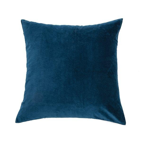 Velvet blue european pillow