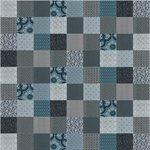 Courtepointe bleu patchwork Victorine